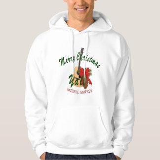 ナッシュビルのメリークリスマスのYallの男性スエットシャツ パーカ