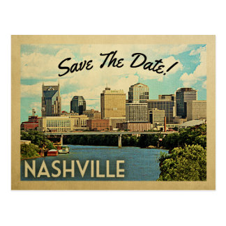 ナッシュビルの保存日付テネシー州 ポストカード