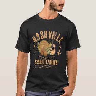 ナッシュビルの射手座の(占星術の)十二宮図の人のワイシャツ Tシャツ
