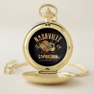 ナッシュビルの山羊座の(占星術の)十二宮図の壊中時計 ポケットウォッチ