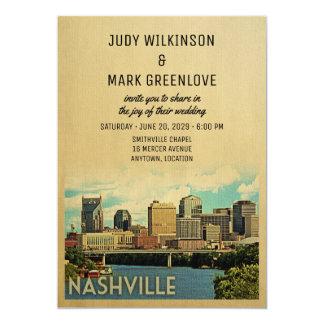 ナッシュビルの結婚式招待状テネシー州 カード