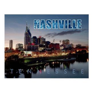 ナッシュビルの都心のスカイライン、夜のテネシー州 ポストカード