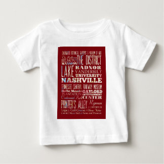 ナッシュビルの魅力そして有名な場所 ベビーTシャツ