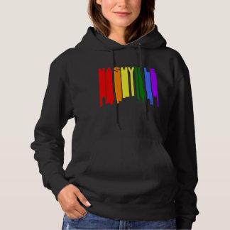 ナッシュビルテネシー州ゲイプライドの虹のスカイライン パーカ