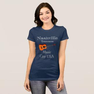 ナッシュビルテネシー州音楽都市Tシャツ Tシャツ