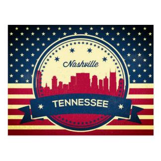 ナッシュビルレトロのテネシー州のスカイライン ポストカード