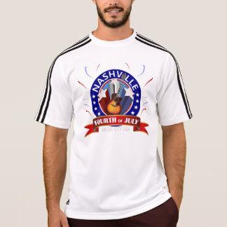 ナッシュビル7月4日の男性アディダスClimaLite®のTシャツ Tシャツ