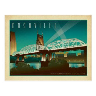 ナッシュビル、TN - Shelby St.橋 ポストカード