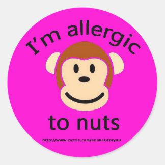 ナットのアレルギーのピンク ラウンドシール