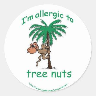 ナットのアレルギー警報猿 ラウンドシール
