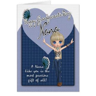 ナナのかわいく小さい西部-祖父母日カード カード