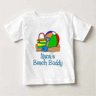 ナナのビーチの相棒 ベビーTシャツ