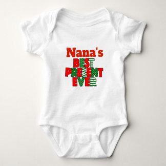 ナナのベストの現在のクリスマスの孫 ベビーボディスーツ