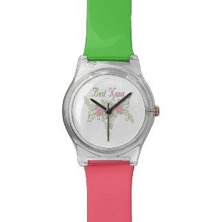 ナナの最も最高のな渦巻くハート 腕時計