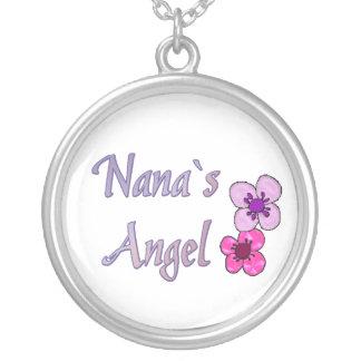 ナナの` sの天使の花 シルバープレートネックレス