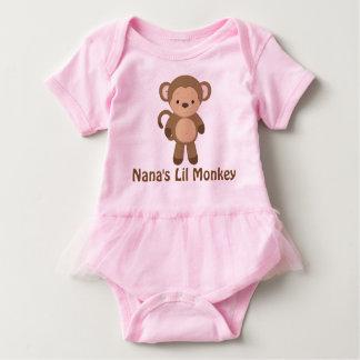 ナナのLil猿のチュチュのボディスーツ ベビーボディスーツ