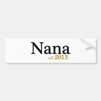 ナナ米国東部標準時刻2013年 バンパーステッカー