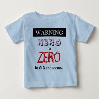 ナノ秒を0点規正する警告の英雄 ベビーTシャツ
