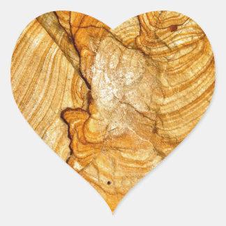 ナバホー人の石の抽象芸術の詳細 ハートシール