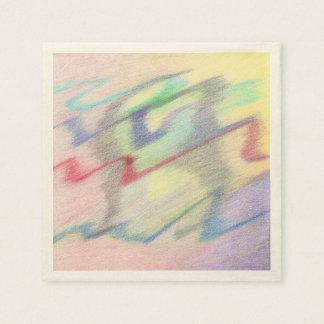 ナプキンの置かれる多彩の海岸の抽象芸術によって スタンダードカクテルナプキン