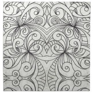 ナプキンの花柄の抽象芸術の背景 ナプキンクロス