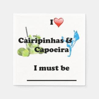 ナプキンのcapoeiraの武道 スタンダードカクテルナプキン