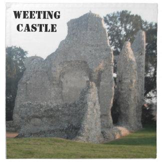 ナプキンのWeetingの城Weetingノーフォークイギリス ナプキンクロス