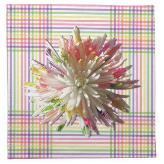 ナプキン-布-格子の色彩の鮮やかなくものミイラ ナプキンクロス