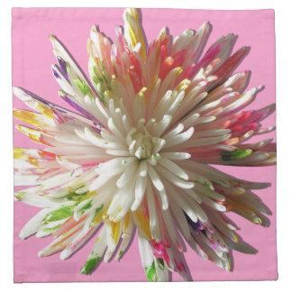 ナプキン-布-色彩の鮮やかな白人のくものミイラ ナプキンクロス