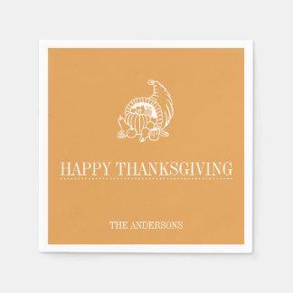 ナプキン-幸せな感謝の与えること スタンダードカクテルナプキン