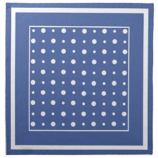 ナプキン、濃紺の水玉模様のスタイリッシュなセット ナプキンクロス