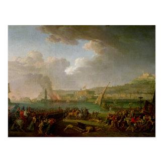 ナポリに入っているフランスのな軍隊 ポストカード