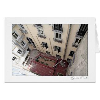 ナポリのアパートの壁 カード