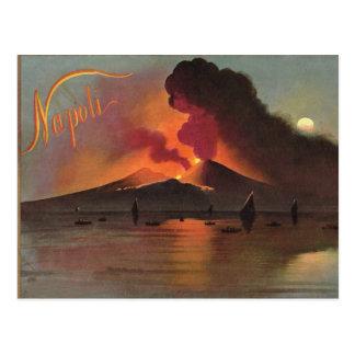 ナポリのナポリ、1908年、Vesuviusおよび湾 ポストカード