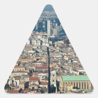 ナポリのパノラマ 三角形シール