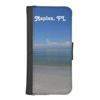 ナポリのビーチ iPhoneSE/5/5sウォレットケース