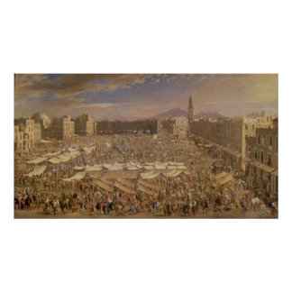 ナポリの市場 ポスター