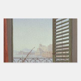 ナポリの湾の眺めのバルコニー部屋 長方形シール