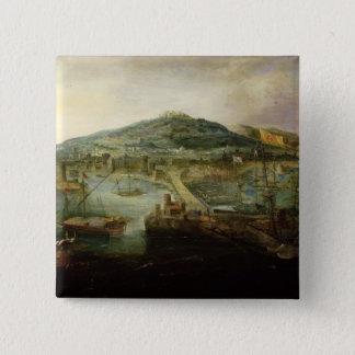 ナポリの湾 5.1CM 正方形バッジ