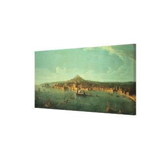 ナポリの眺め、17世紀 キャンバスプリント