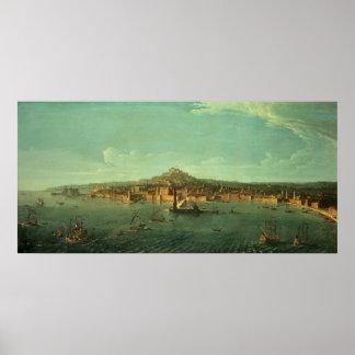 ナポリの眺め、17世紀 ポスター