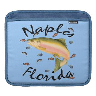 ナポリの記念品、魚、フロリダの人力車の袖 iPadスリーブ