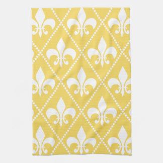 ナポリの黄色い(紋章の)フラ・ダ・リ キッチンタオル