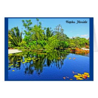 ナポリフロリダの植物園-無限プール グリーティングカード
