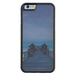 ナポリ桟橋、夜明け CarvedメープルiPhone 6バンパーケース