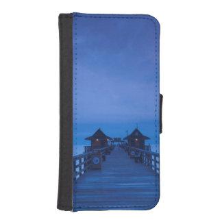ナポリ桟橋、夜明け iPhoneSE/5/5sウォレットケース