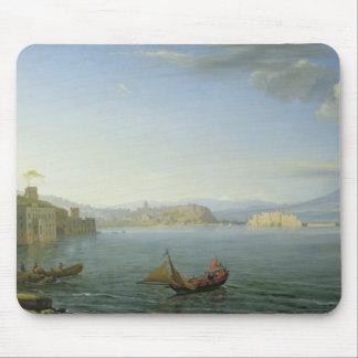 ナポリ1750年の眺め マウスパッド