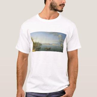 ナポリ1750年の眺め Tシャツ