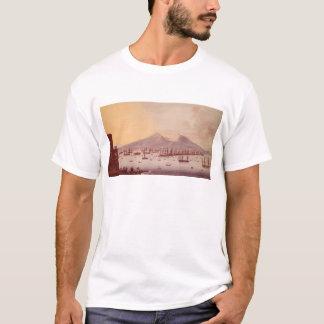 ナポリ1798年の湾の眺め Tシャツ