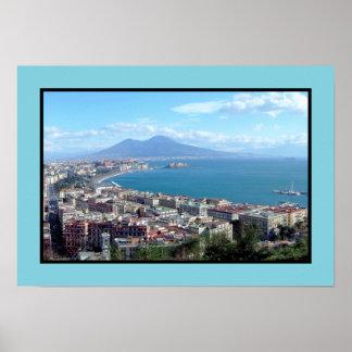 ナポリ(イタリア)のパノラマ ポスター